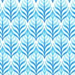 blue leaf pattern 02