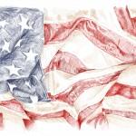 us flag pen