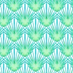 turquoise leaf pattern